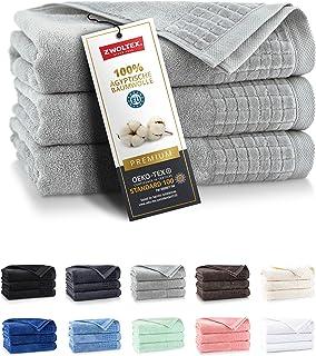 ZWOLTEX Niebiańsko miękkie ręczniki ze 100% egipskiej bawełny I Made in EU I ręczniki dla gości bardzo miękkie ręczniki ką...