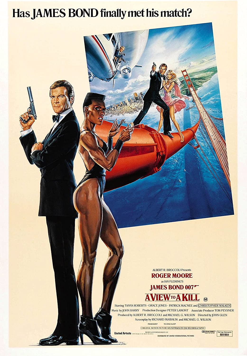 Black Creations A View to a Kill 2 Movie Poster Canvas Picture Art Print Premium Quality A0 A1 A2 A3 A4 (A0 Canvas (30 40))