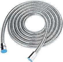 TRUSBER Metal Shower Hose for Handheld Shower Head 201 Stainless Steel Bathroom 118 Inche Extra Long Flexible Tube Univers...