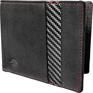 REAL Carbon Fiber & Alcantara RFID Wallet for Men by Kiryu Design