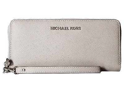 MICHAEL Michael Kors Jet Set Travel Travel Continental (Pearl Grey) Clutch Handbags