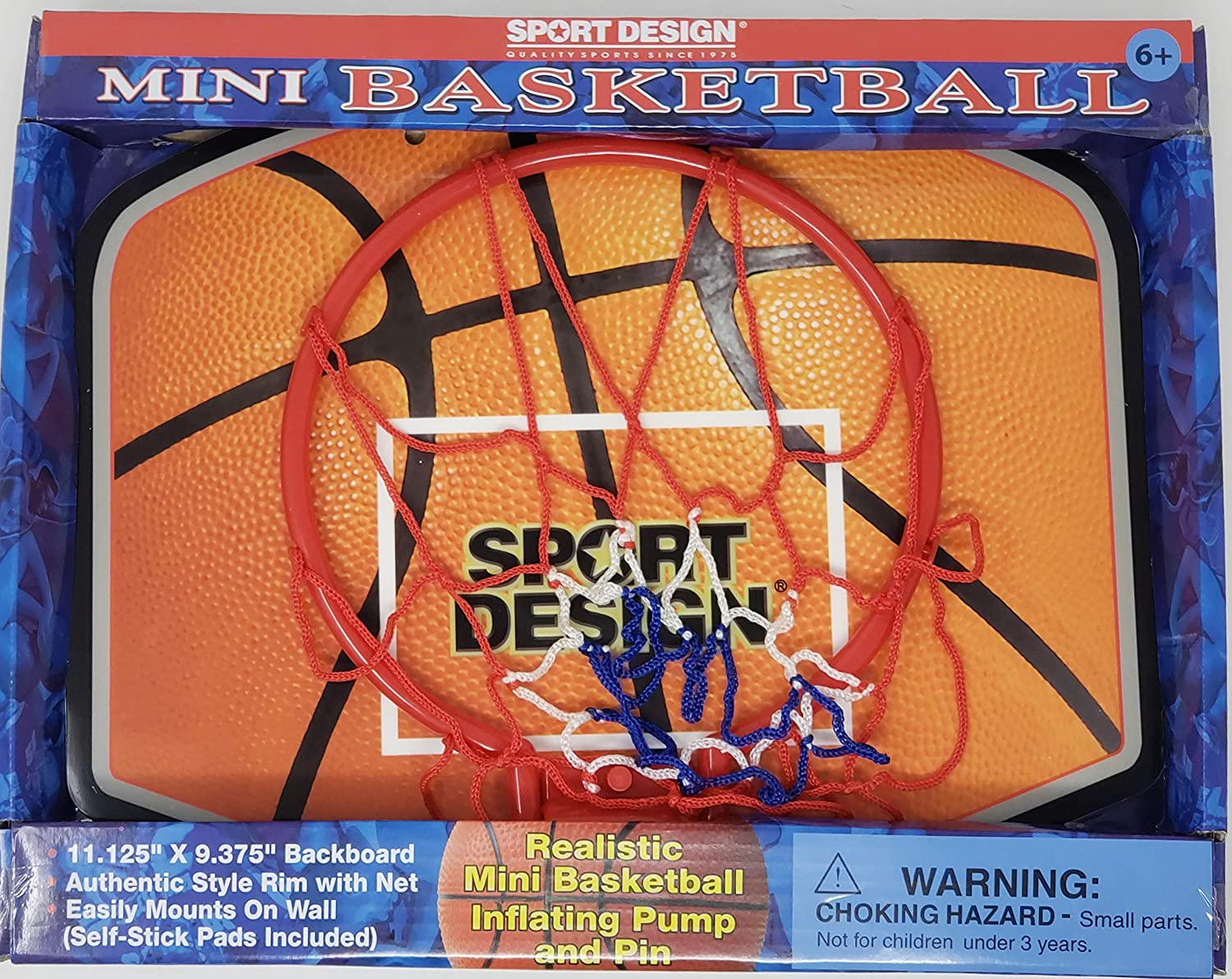Sport design Mini Basketball Hoop with Inflatable Basketball, In