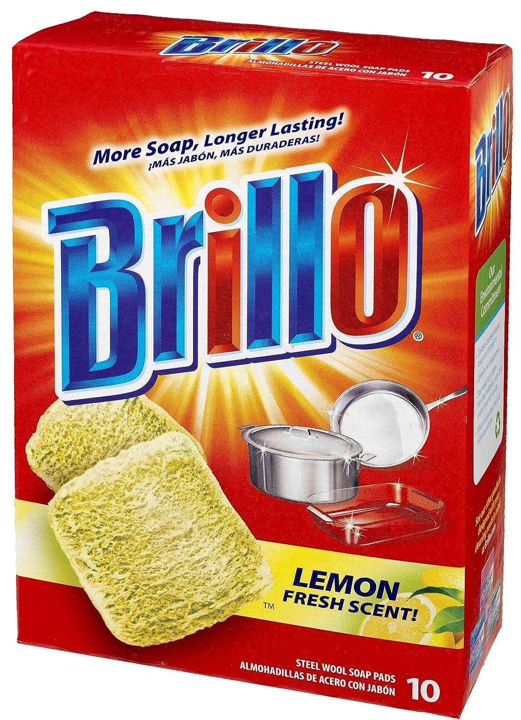 ポテトあそこ優先Brillo(ブリロ) ソープパッド レモン 10個入