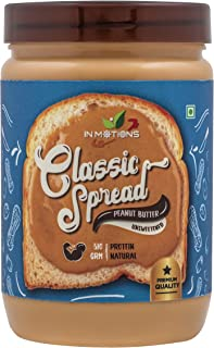 INMOTIONS All Natural Peanut Butter [ Classic Spread ( Natural ) ] = 510g,