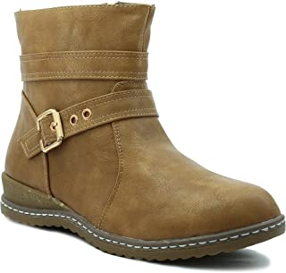 Shuberry Latest Footwear Collection, 5 inches Length Comfortable & Fashionable High Top Boots with Exclusive Front Belt Design for Women's & Girl's