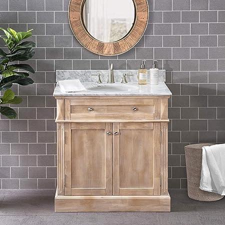 Amazon Com Sj Collection Chatel 36 In Single Sink Bathroom Vanity Rustic Tools Home Improvement