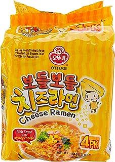 Ottogi Cheese Ramen Noodle 4 Packets, 444 g