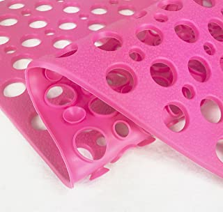 Style Store, Bathtub and Shower Mat, Non-Slip Bath Mat Odorless Machine Washable, (Pink, 29.5x17 inches)