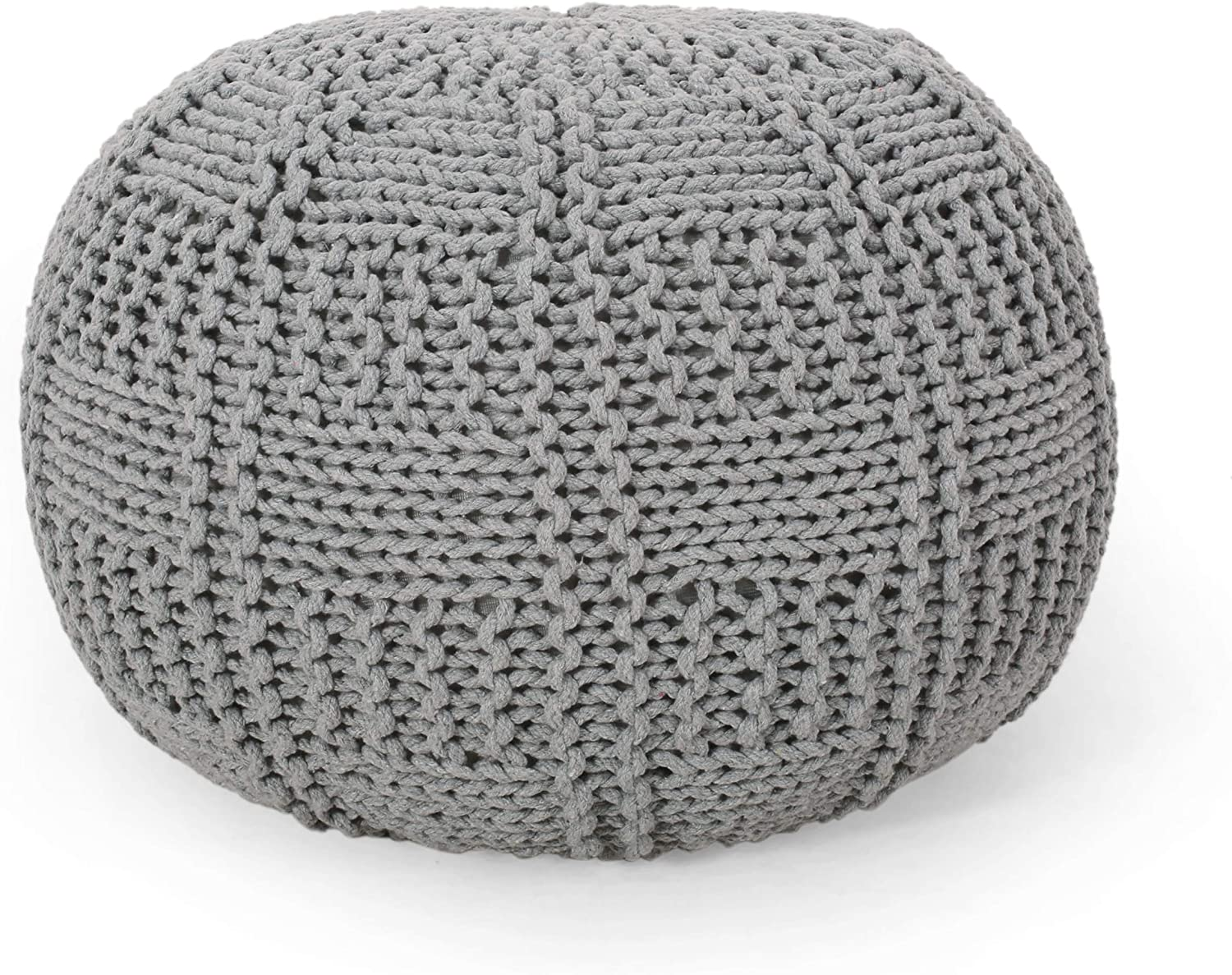 Christopher Knight Manufacturer direct delivery Raleigh Mall Home Pouf Hortense Gray