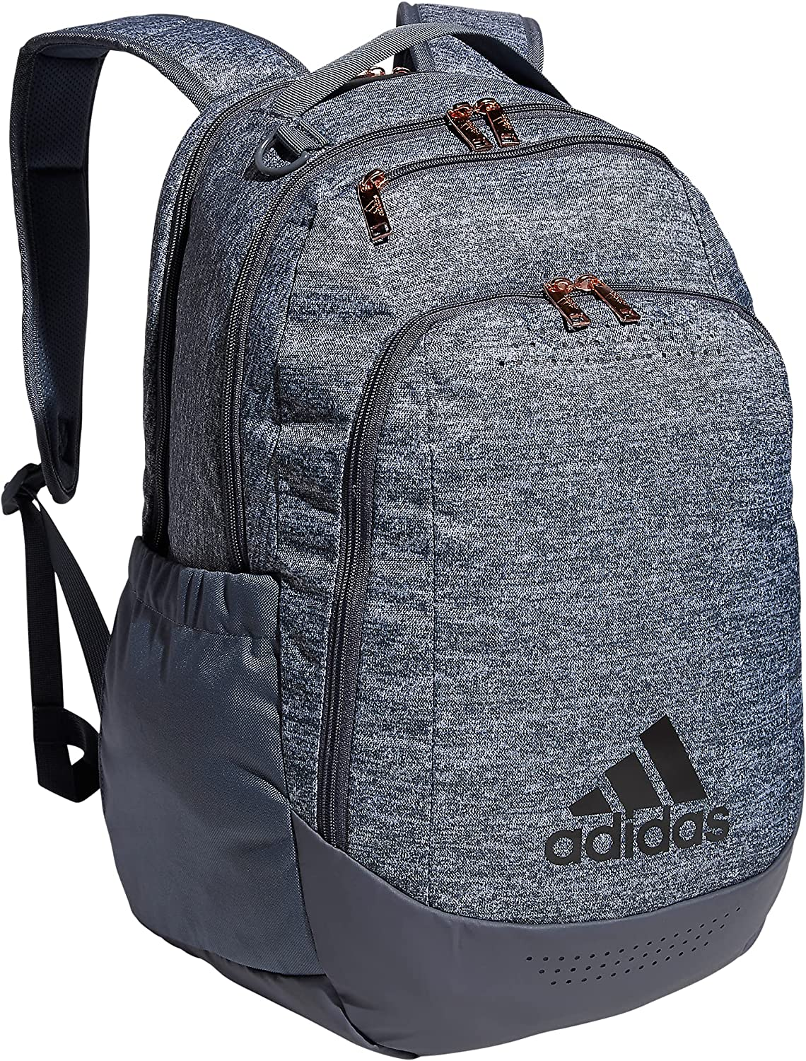adidas Defender Team Sports Backpack, Jersey Onix Grey/Onix Grey/Rose Gold, One Size