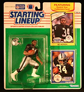 BO JACKSON / OAKLAND RAIDERS 1990 NFL Starting Lineup Action Figure & Exclusive NFL Collector Trading Card