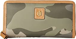 Julia Large Zip Camo Nylon Wallet