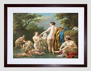 PAINTINGS OLD MASTER VENUS NYMPHS BATHING LAGRENEE FRAMED ART PRINT B12X9869