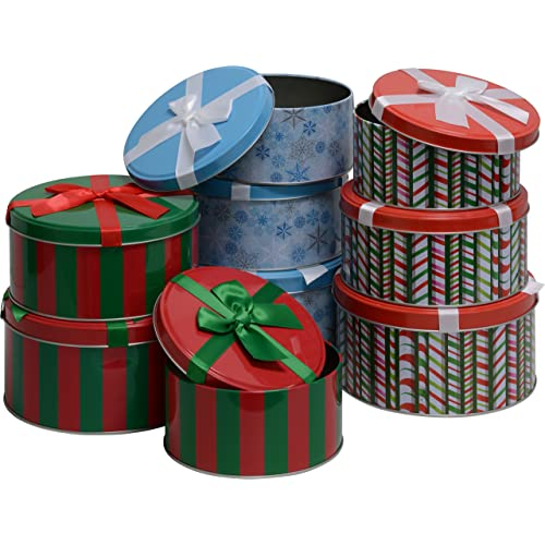 Christmas Cookie Tins with Lids: Amazon.com