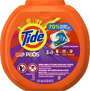 Tide PODS Spring Meadow Scent HE Turbo Laundry Detergent Pacs, 72 count
