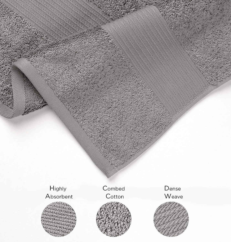 Denim Soft Bliss Luxury Combed Cotton Bath Towels Absorbent 650 GSM 27 x 54 Standard Size Premium Quality Bath Sheet