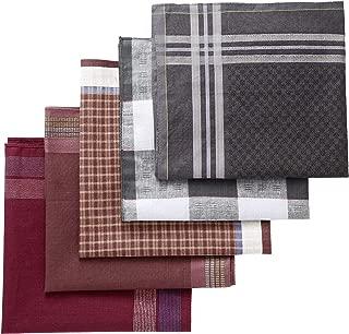 Mens Pocket Squares Handkerchief Cotton Classic Hankies 5 Piece
