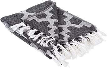 DII Modern Moroccan Cotton Blanket Throw with Fringe for Chair, Couch, Picnic, Camping, Beach, & Everyday Use, 50 x 60 - L...