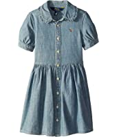Ruffled Chambray Dress (Little Kids)