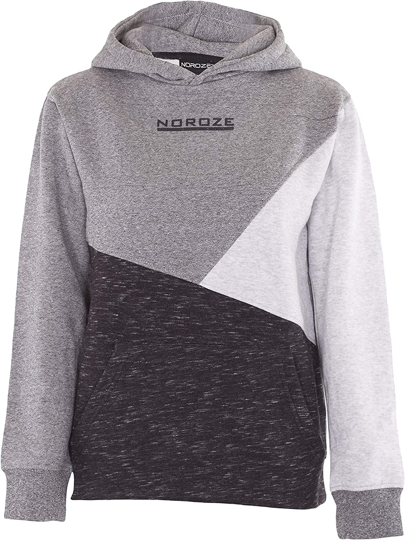 NOROZE Boys Hoodie Manufacturer regenerated product Kids Finally popular brand Contrast Fleece Top Sweatshirt Pullover
