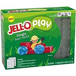 JELL-O Play Jungle Build + Eat Gelatin Dessert Kit (6 oz Box)