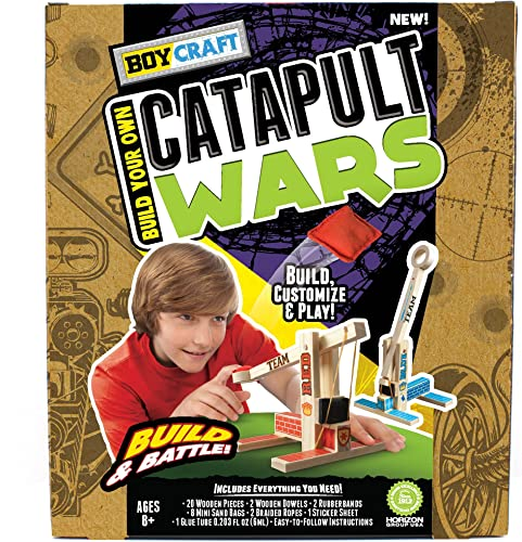 Boy Craft Catapult Wars Build and Battle Kit with 2 Catapults by Boy Craft