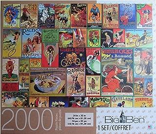 Big Ben Vintage Bicycle Posters 2000 Piece Puzzle