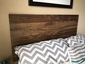 Walnut Headboard Modern by CW Furniture King Queen Full Twin Size Custom Handmade Solid Hardwood Minimalist Legs or Wall Mount French Cleat Bedroom