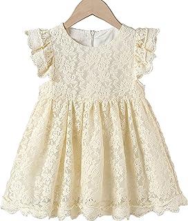 Cutiego Flower Girl Dress Toddler Dresses Vintage Rustic Dress Baby Girl Baptism Dress