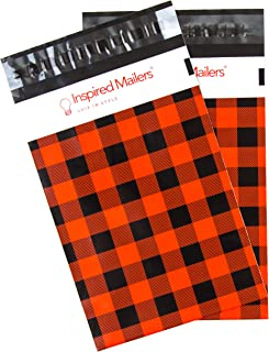 Inspired Mailers - Poly Mailers 6x9 - Red Buffalo Plaid - Choose from 6x9, 10x13 and 14.5x19 Sizes - 3.15mil Unpadded Mailing Bags (6x9, 100 Pack)