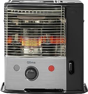 Qlima R7127TC - Calefactor (Calentador infrarrojo, 13,5 h, Interior, Negro, Acero inoxidable, Giratorio, 2700 W)