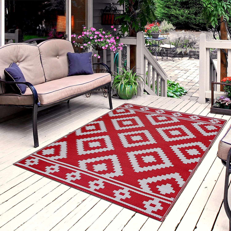 Playa 並行輸入品 Rug Reversible Indoor Outdoor 100% Plastic 激安格安割引情報満載 Floor Recycled