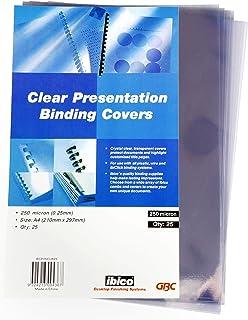 GBC BCP25CLR25 Binding Cover, A4 250 Micron Clear PK25