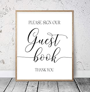 Please Sign Our Guest Book Printable Wedding Signs Wedding Decor Wedding Printables Wedding Day Cards Wedding Party Outdoor Wedding Wood Pallet Design Wall Art Sign Plaque with Frame wooden sign