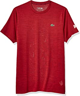 Lacoste Mens Sport Short Sleeve Novak Performance Heather T-Shirt