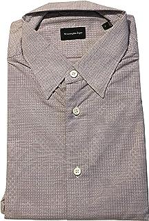 Purple Geometric Dress Shirt Size Large Tailored Fit