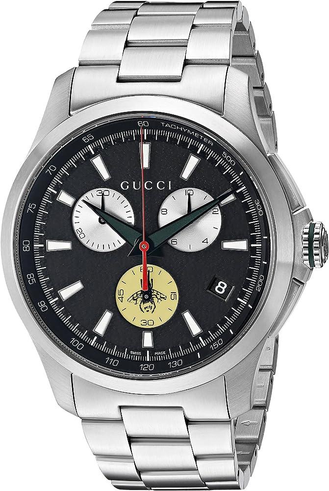 Gucci, orologio,cronografo per uomo,in acciaio inossidabile YA126267
