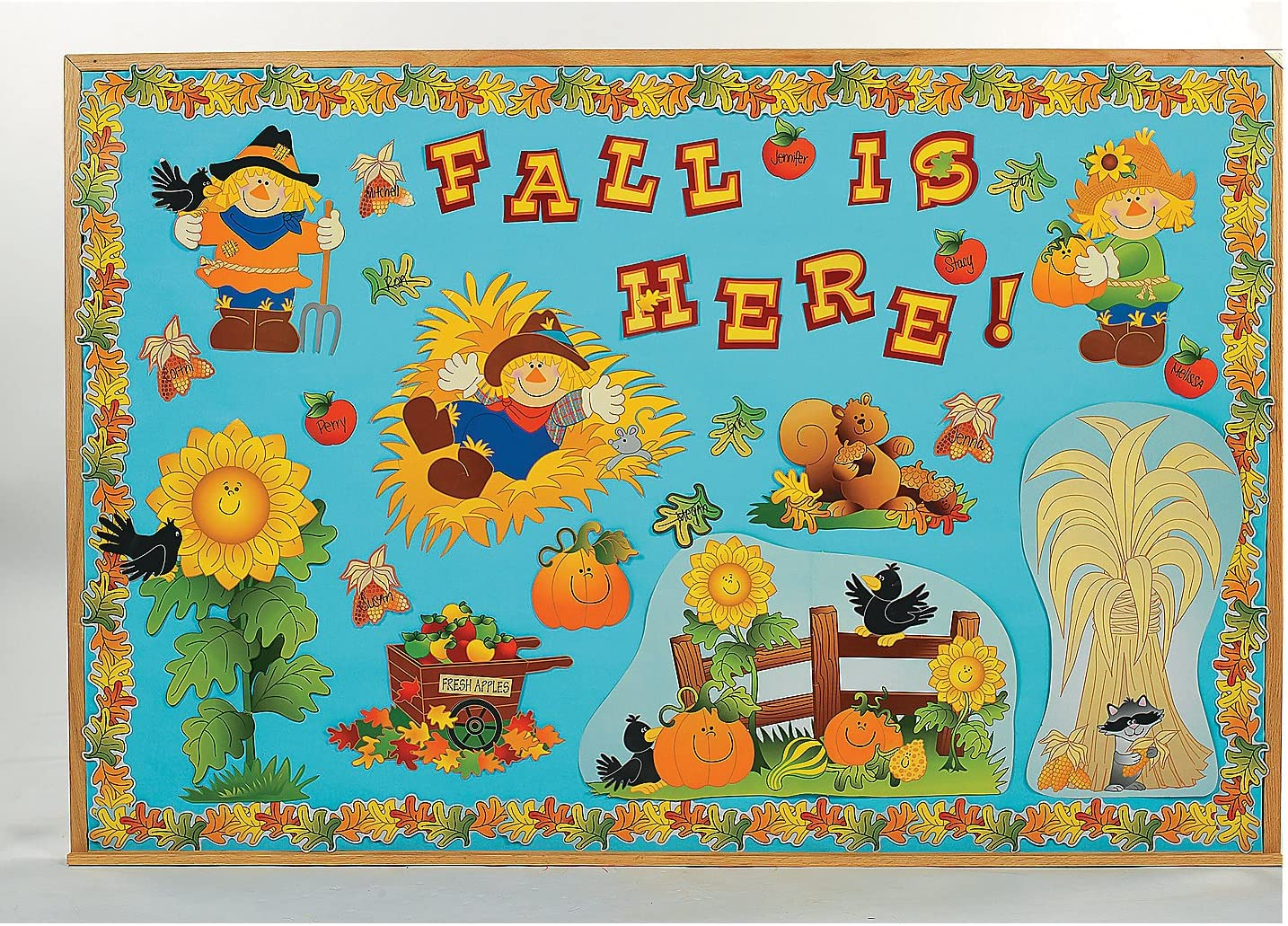 Super Special SALE held Bulletin Board Set - Fall 150 Pieces Harvest New Orleans Mall and Educational