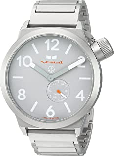 Vestal 'Canteen Metal' Quartz Stainless Steel Casual Watch, Color Silver-Toned (Model: CNT453M09.1SVM)