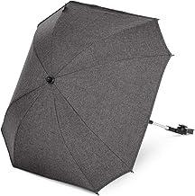 ABC Design Universal Sonnenschirm Sunny – für Kinderwagen und Buggy – UV-Schutz 50 – Universalhalterung für Rund- und Ovalrohre – Farbe: asphalt