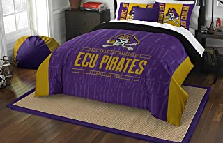 Officially Licensed NCAA East Carolina Pirates Modern Take Full/Queen Comforter and 2 Sham Set
