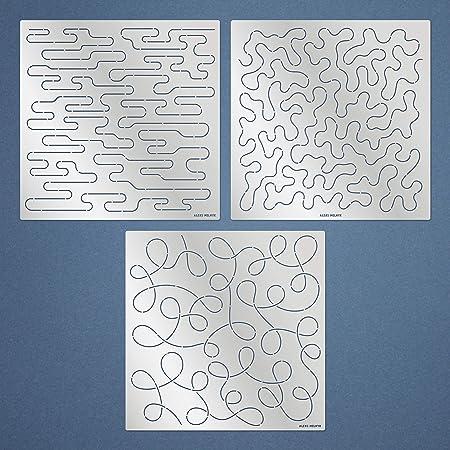 4 Pack Quilting Creations Scribbles-Petite 4-1//2 Inch Rows UTA-1011 Urban Elementz Tear Away