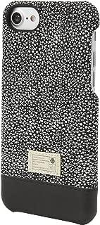 HEX [Focus Case Series] Case Design for iPhone 8 / iPhone 7 - Premium Leather Textile Construction - Custom Molded Polycarbonate - Focus Case/Black/White Stingray