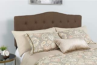 Flash Furniture Cambridge Tufted Upholstered King Size Headboard in Dark Brown Fabric