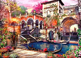 Jigsaw Puzzles 1000 Piece Puzzles for Adults Kids, Waters of Venice 1000 Puzzle Romantic Garden Puzzles for Adults Teens