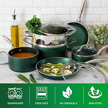 GRANITE STONE Pots and Pans Set - 20pc Kitchen Cookware Sets Pots and Pans for Cooking Set Nonstick Cookware with Frying Pans