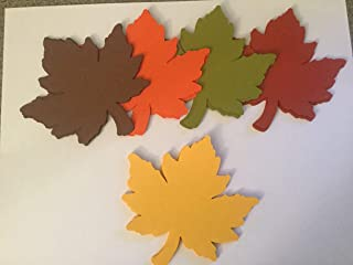 25 Large Fall Leaves Die cuts, 4 inch Leaf Cutout, Large Leaf Confetti, Thanksgiving Decor, Thankful Tree, Leaf Paper Piecing, Autumn Leaves