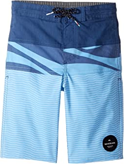 Quiksilver Kids - Heatwave Blocked Beach Shorts (Big Kids)
