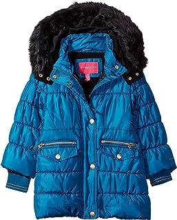 London Fog Girls Longer Length Winter Jacket Coat with Cozy Trimmed Hood Parka