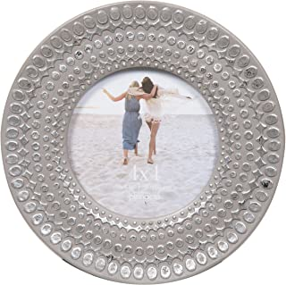 Pinnacle Frames and Accents Grey 4X4 Circle Frame with Silver DOTS